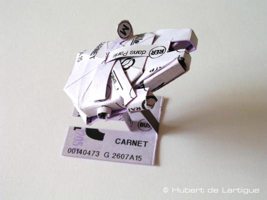 Star Wars Origami From Subway Tickets Folding Paper